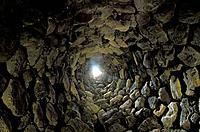 Inside Si Nuraxi, Barumini, Marmilla, Sardinia, Italy