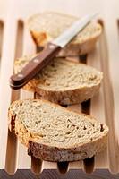 sliced farmhouse bread loaf