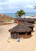 salvador kiosks bars on the beach shore