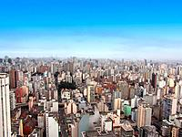 sao paulo sp aerial view of the buildings city