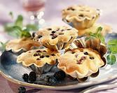 moist blueberry and blackberry buns