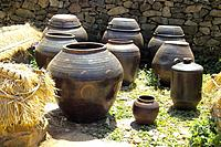 korea culture, scenery, pot, jar, house item, nature