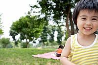 A boy at picnic