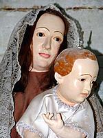 a sacred image of virgin mary and jesus at bahia cloister