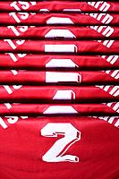 Soccer shirts, close_up