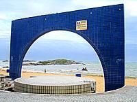 a monument for elder people events at espirito santo beach