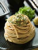Chilled Soba Noodles With Wasabi and Soy Sauce