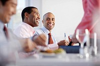 Businessmen Having Lunch