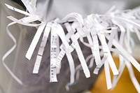 Close_Up Of An Overflowing Paper Shredder