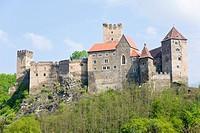 Castle surrounded by forest, Hardegg Castle, Thayatal, Lower Austria, Austria