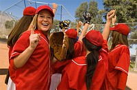 Women´s softball team celebrating