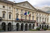 europe, italy, valle d´aosta, aosta, emilio chanoux square, city hall