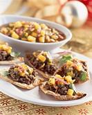 Ground Beef Nachos on a Platter