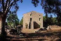 Traditional house. Corse-du-Sud, Corsica, France