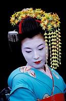 Geisha in full attire. Kyoto. Japan