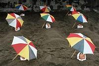 Sand bath. Ibusuki. Japan