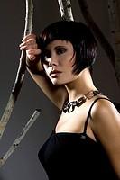 Dark_haired woman, portrait