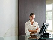 Portrait of a receptionist