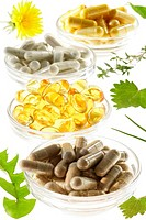 FOOD SUPPLEMENT Capsules and gel caps of omega 3.
