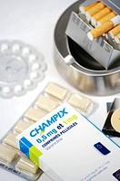 TREATMENT FOR SMOKING Drugs to help quit smoking : Champix, nicotinic substitutes patch, gums, sublingual pills Nicorette. Champix molecule : Varenicl...