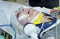 EMERGENCY CASE, HOSPITAL Rambouillet hospital. Reconstitution. Emergency services, shock treatment unit.