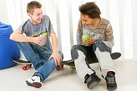 ADOLESCENT WITH COLD DRINK Models.