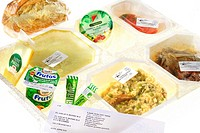 FOOD Meal tray at home for elderly persons or ill persons. The same meal are served at the hospital.