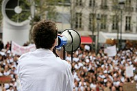 DEMONSTRATION Protest of students in osteopathy, Paris, 2006.