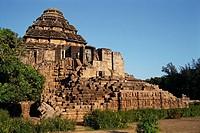 Richly carved Sun temple , Konarak , Orissa , India