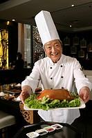 Chinese Cook Cooking Beijing Duck