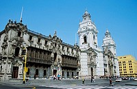 Archbishop´s Palace and Cathedral, Plaza de Armas, Plaza Mayor, Lima, Peru