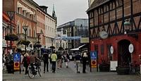 Sweden, Malmo _ People walking on a street