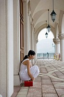 Chinese woman at the Venetian Macao-Resort-Hotel, China