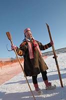 The Norwegian man in folk costume in north Norway