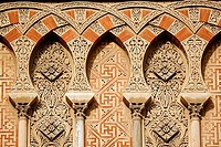 Detail of an exterior wall of the Great Mosque, Cordoba. Andalusia, Spain