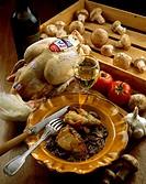 Bresse chicken and a fricassée of mushrooms _ Recipe Celestine _ La petite Auberge