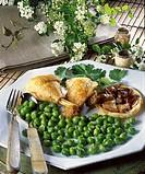 Bresse chicken, tatin of shallots _ Menu of feast