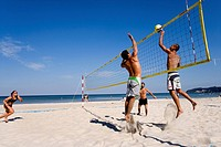 Beach volleyball, Binz, Ruegen Island, Baltic Sea, Mecklenburg-Western Pomerania, Germany, Europe