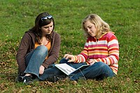 Two young teenagers outdoors