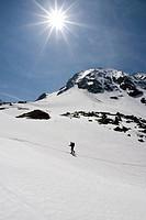 Ski tour in Rauris, Hohe Tauern National Park, Salzburg, Austria, Europe