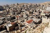 View onto the Christian pilgrimage site of Sednaya, Saidnaya, Syria, Middle East