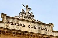 Theatro Garibaldi, Piazza Amerina, Sicily, Italy, Europe