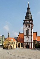 Church of St. Katherine, historic old town of Chomutov, Komotau, north Bohemia, Czech Republic