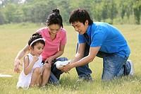Chinese Family Flying Kite,Beijing