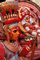 TEYYAMS VELLATAM AND RAKTHA CHAMUNDI, KANNANKANDY BHAGAVATHI TEMPLE, KANJANGAD REGION, KERALA, INDIA