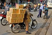 Transport of articles, Hanoi, Vietnam, Asia