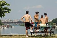 Summer in Ada Ciganlija, Belgrade, Serbia
