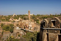 India, State of Rajasthan, Chittorgarh city, Chittor Fort, Asia, travel, January 2008, fortress, historic, architectur