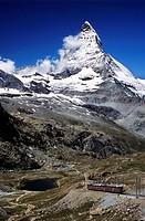 Switzerland, Europe, Matterhorn, Gornergratbahn, town, Zermatt, Canton Valais, alps, alpine, Altitude, Central Europe,