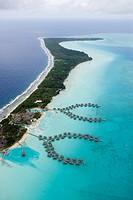 Aerial Photo of InterContinental Resort and Thalasso Spa Bora Bora Overwater Bungalows, Bora Bora, Society Islands, French Polynesia